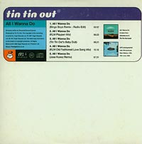 All I wanna do   , Tin Tin Out £1.50